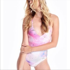 WILDFOX Space Cadet Classic One Piece Swimsuit NWT